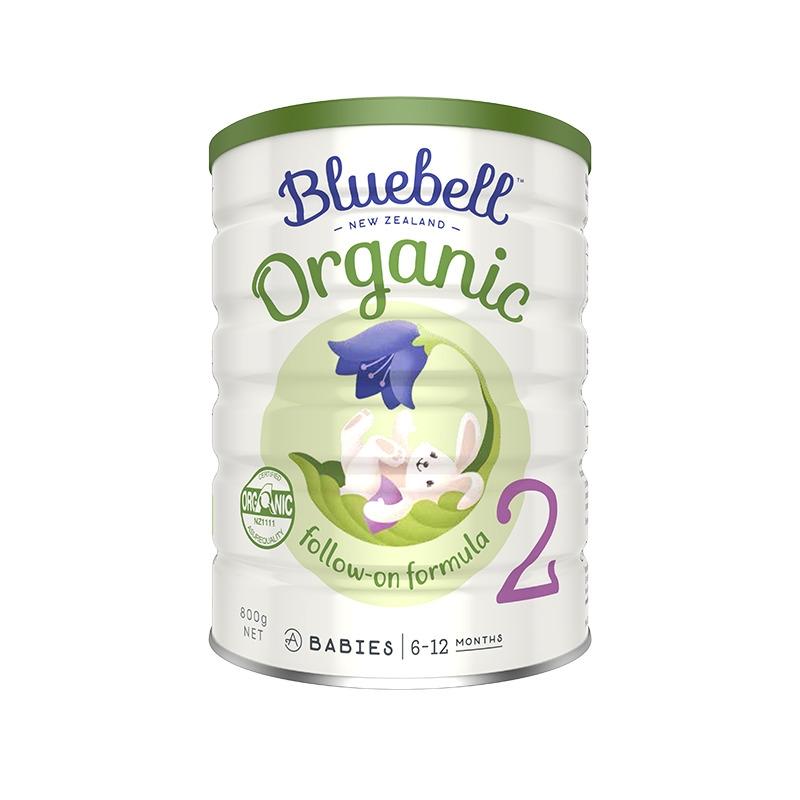 新西兰宝乐贝儿Bluebell有机牛奶粉2段800g