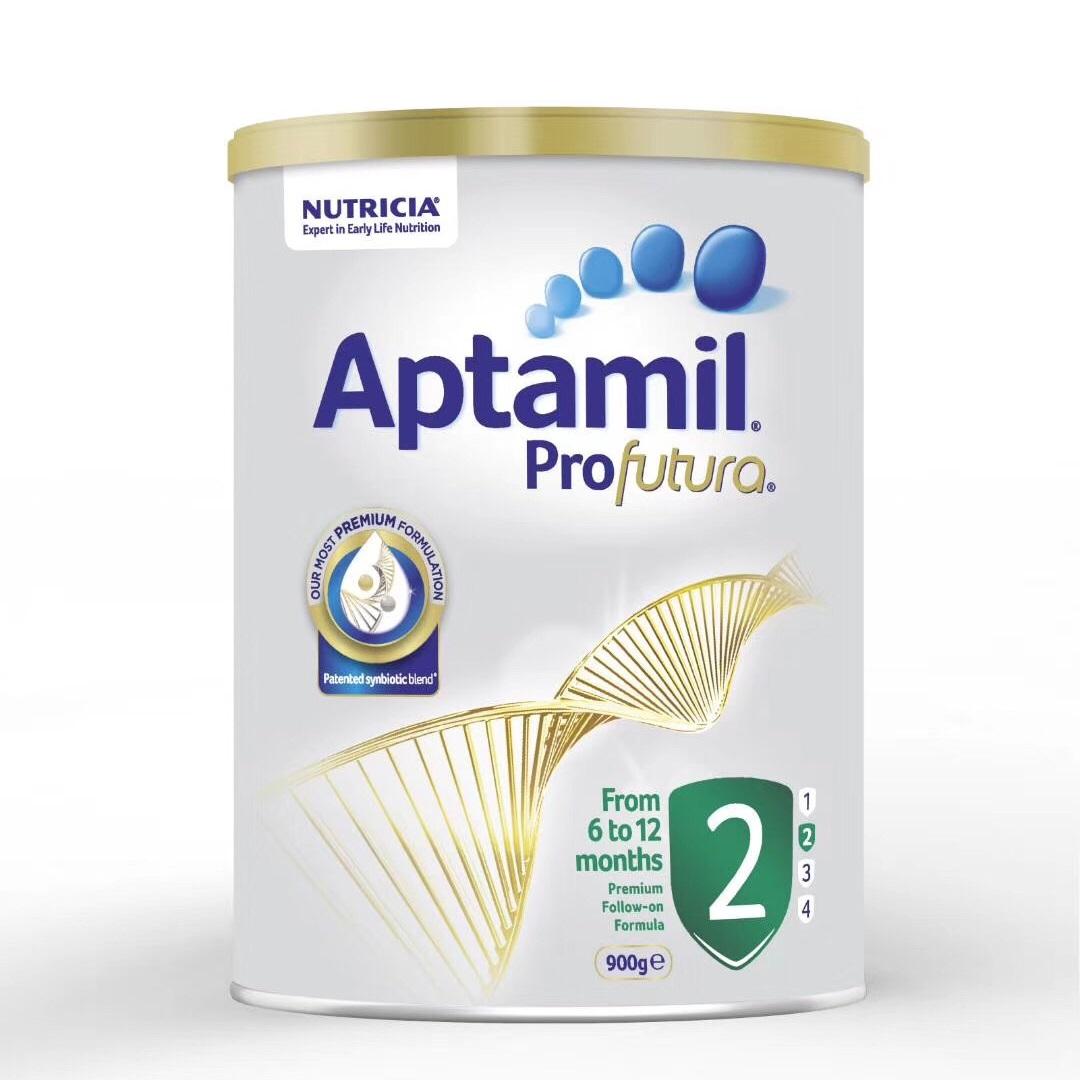 新版澳洲爱他美白金版Aptamil婴幼儿配方奶粉2段 (6-12个月)900g