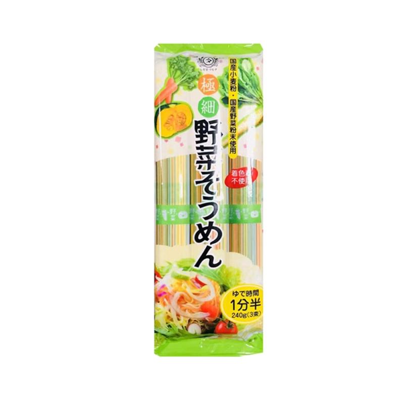 日本田靡TANABIKI 彩色蔬菜细面  240克