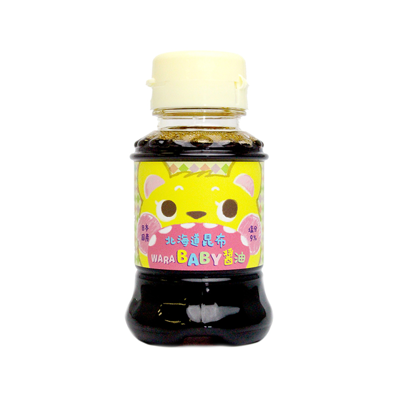 日本北海道昆布warababy宝宝专用低盐酱油幼儿无添加婴儿童辅食进口调味料拌饭料