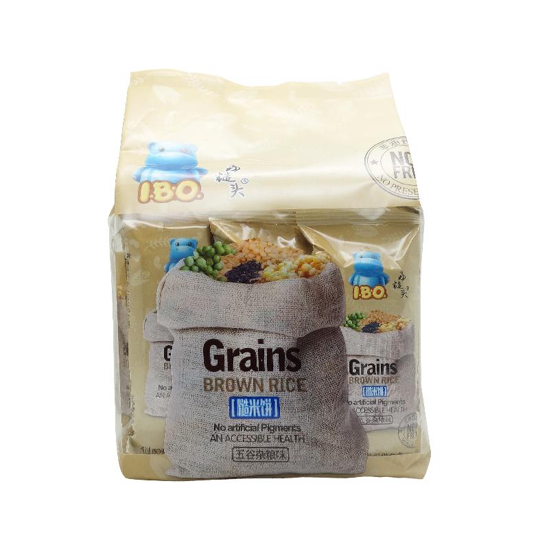 越南原装进口婴儿儿童i.b.o五谷杂粮味糙米饼150g