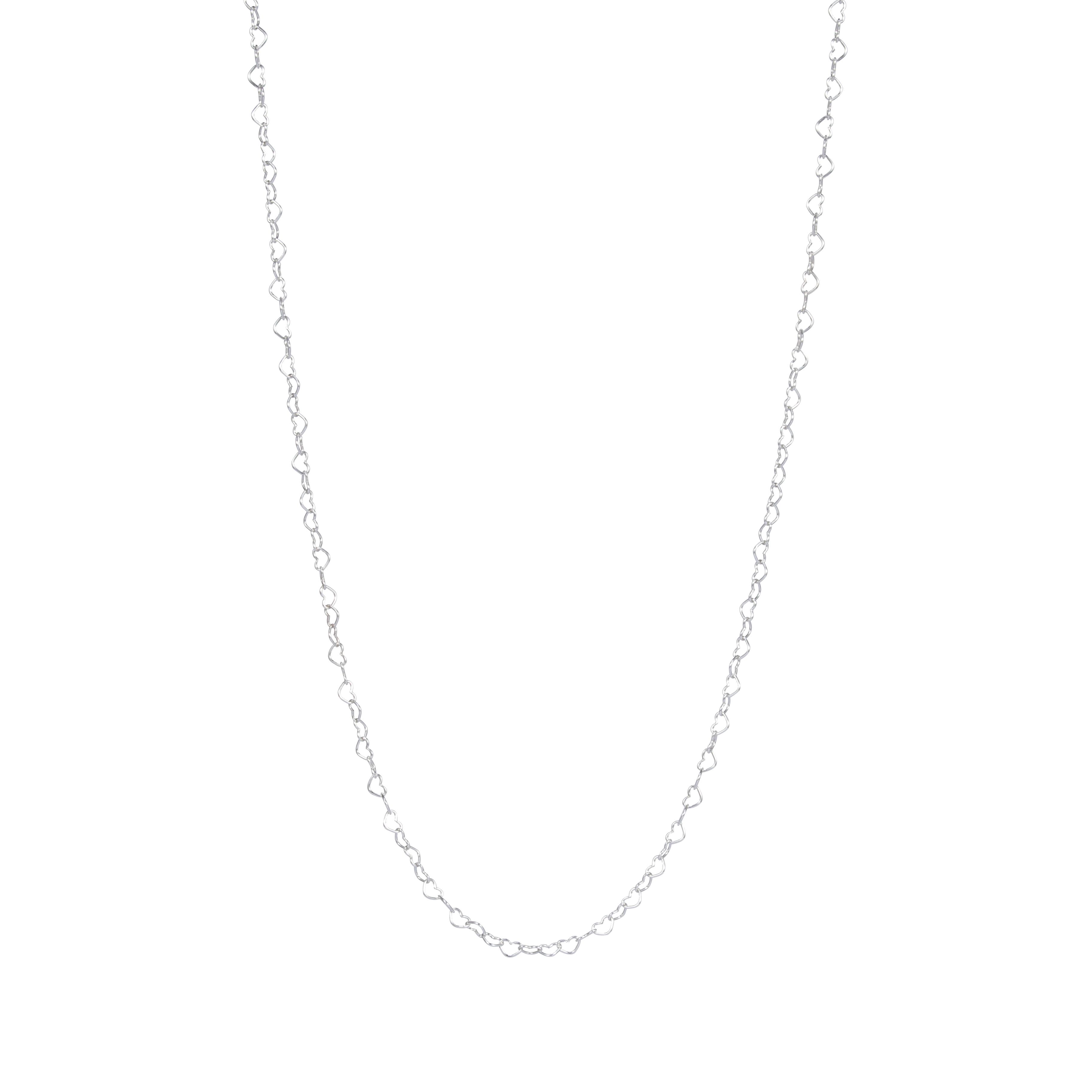 PANDORA 潘多拉 银色心心相连项链 397961-60